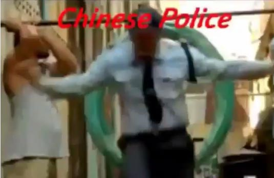 Hahaha! Comparison Between Chinese And Nigerian Police (Video)