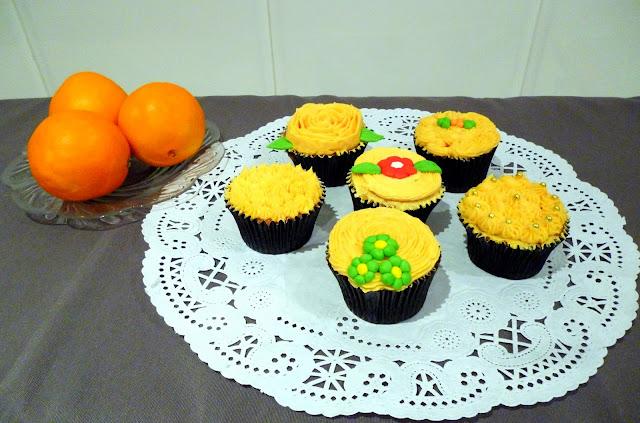 cupcakes naranja