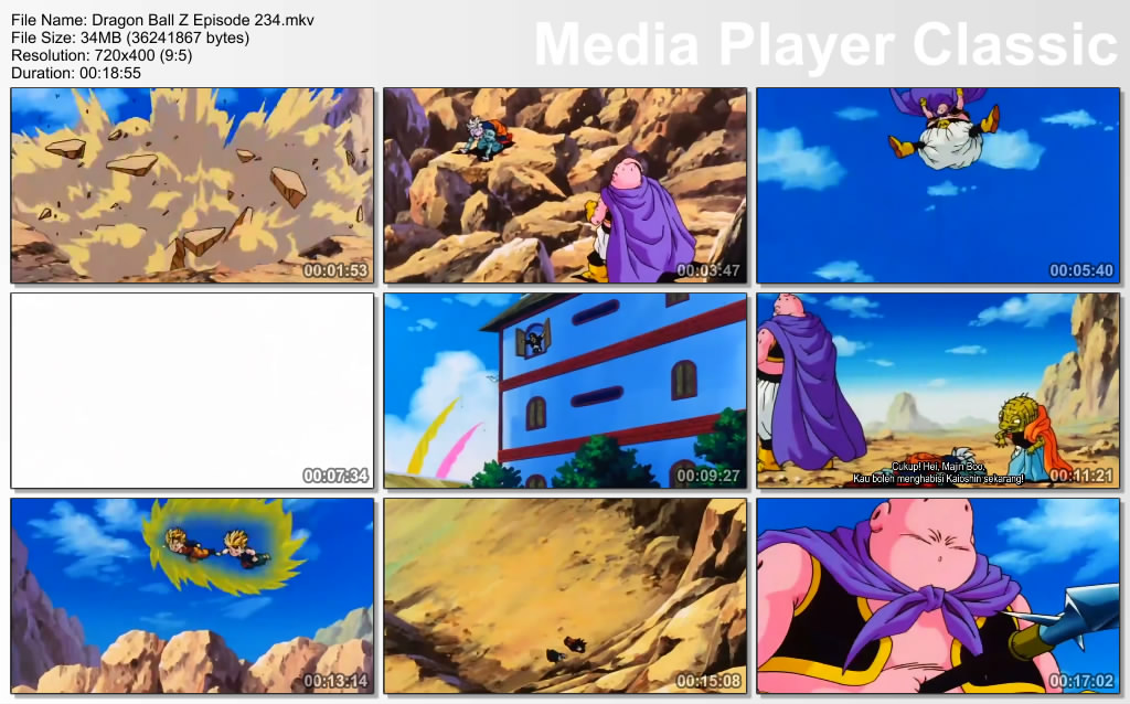 Download Film / Anime Dragon Ball Z Majin Buu Saga Episode 234 Bahasa