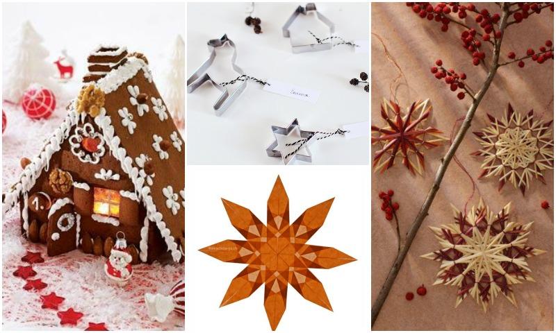 Christmas decoration inspiration Lebkuchenhaus DIY Strohsterne