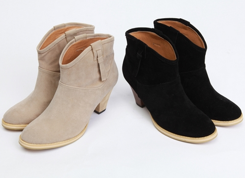 Suede Western Ankle Boots