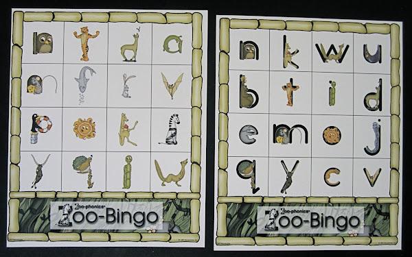 Zoo-phonics Cards Printable