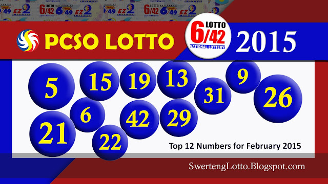 Top 12 Winning Numbers - 6/42 Lotto PCSO Lotto for February 2015