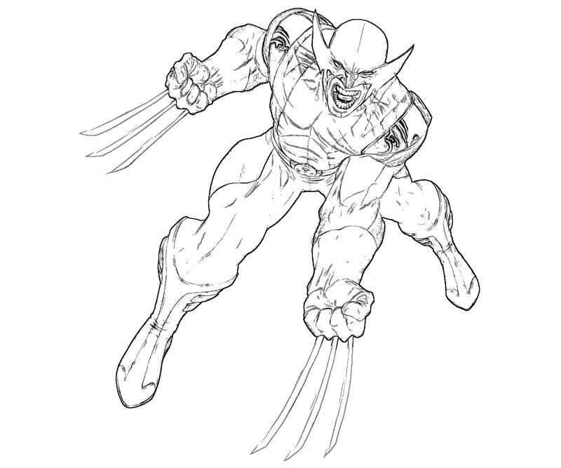 #15 Wolverine Coloring Page