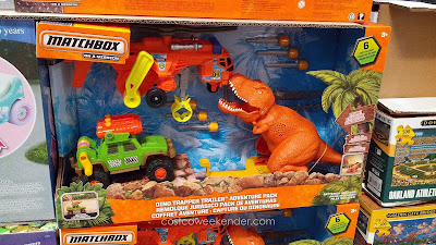 Matchbox Dino Trapper Trailer Adventure Pack – Truck, helicopter and dinosaur