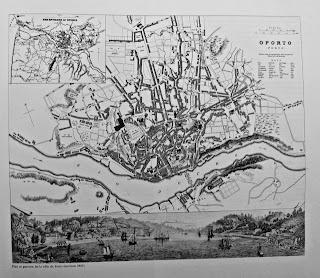 mapa da cidade do Porto de 1855