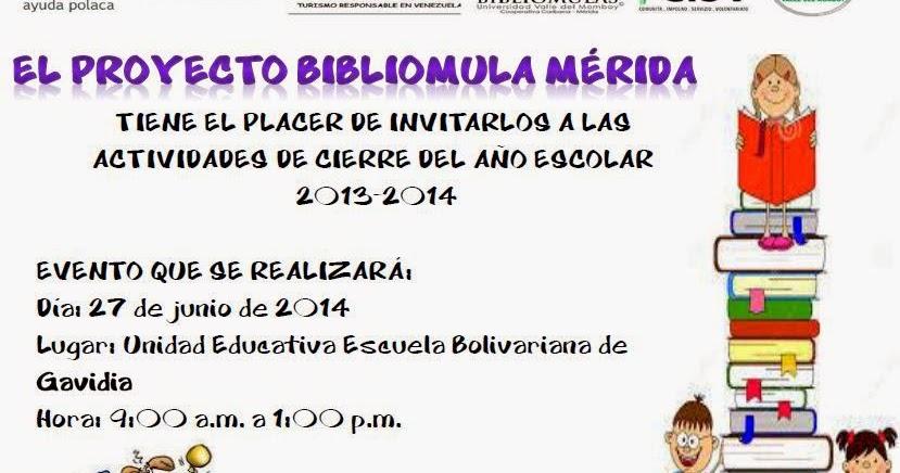 Proyecto Bibliomulas En M Rida Invitaci N Actividad De