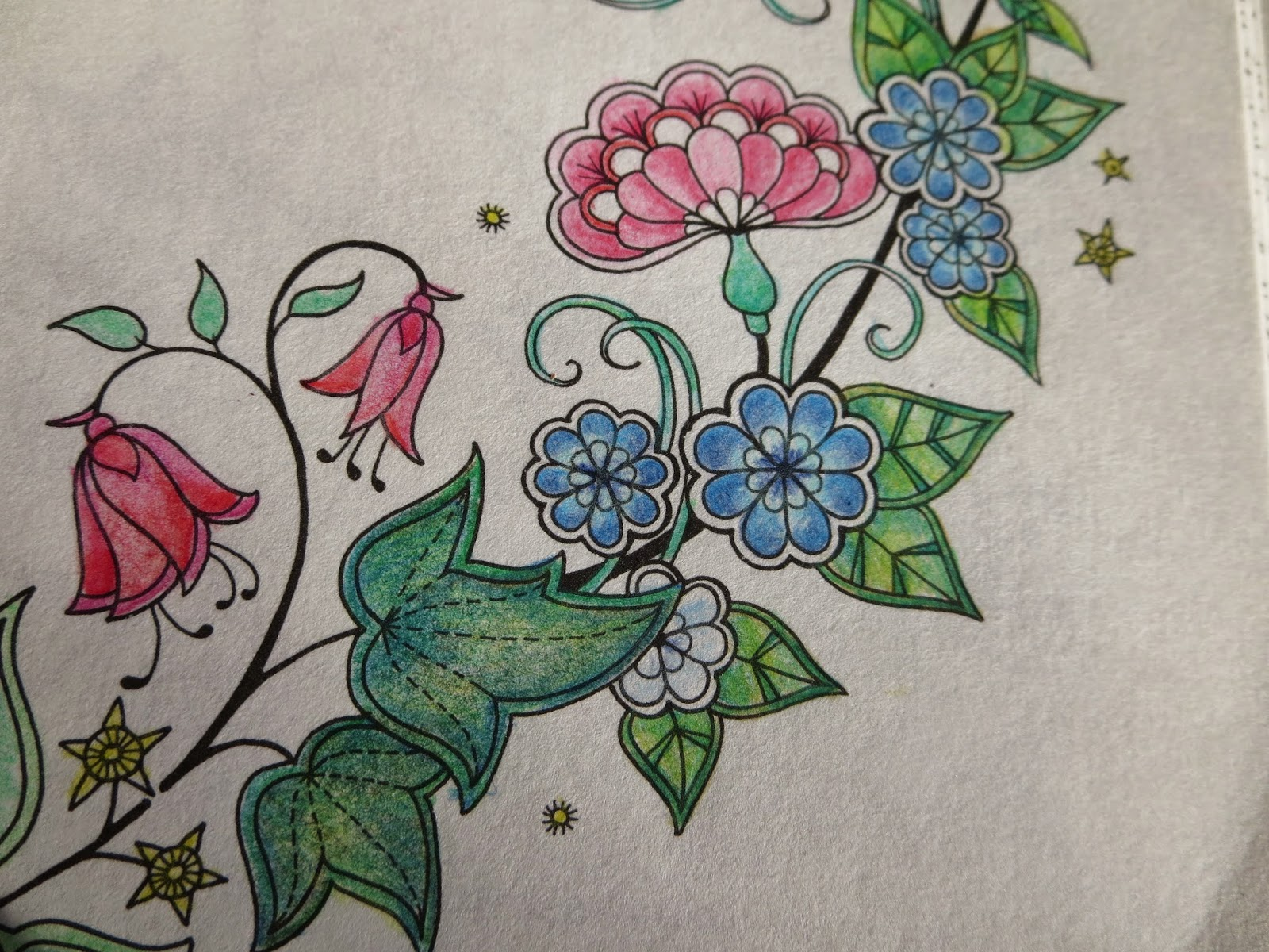 im using my bruynzeel design coloured pencils for this drawing i make sure my pencils are sharpened all the time because they colour so much better and - My Secret Garden Coloring Book