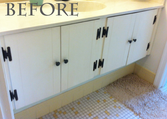 Redo Bathroom Cabinets Prepossessing Mammagranate Bathroom Vanity Redo Decorating Inspiration