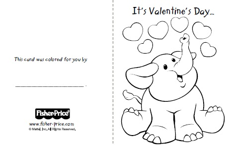 Fisher Price Has A Great Selection Of Printable Valentines Day Cards For Your Little Ones To Color And Send Their Special Loved Friends