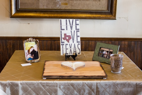 guestbook sign in table