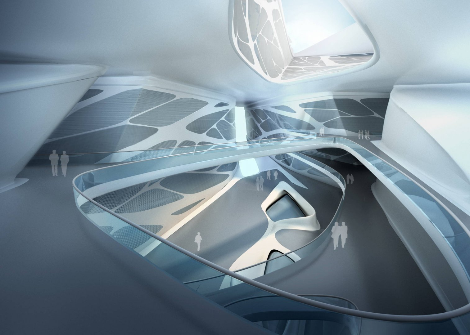 Ivana in 3d architect zaha hadid biomorphic forms for Architecture zaha hadid