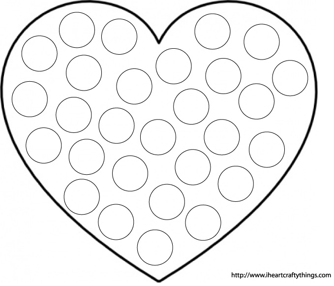 Valentines Sight Word Practice – Heart Worksheet