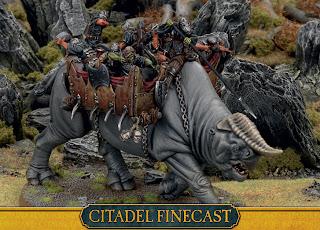 Figurki Władca Pierścieni LotR: SBG, Great Beast of Gorgoroth, Bestia ciągnąca taran Grond pod Minas Tirith