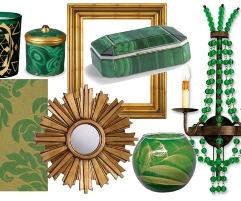 Queen gina 39 s decor for Emerald green bathroom accessories