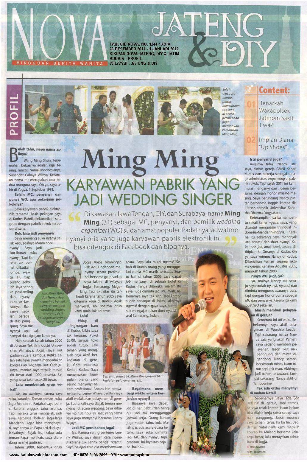 MINGMING KARYAWAN PABRIK YANG JADI WEDDING SINGER