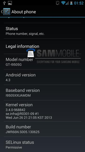 Android 4.3 jellybean for samsung galaxy s4