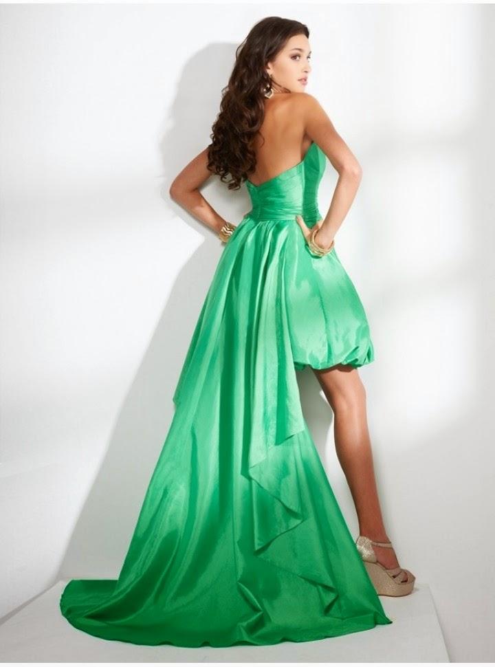 Vestido de Fiesta con Falda Globo Asimetrica