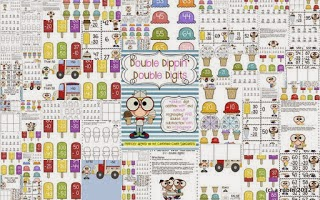 http://www.teacherspayteachers.com/Product/Double-Dippin-Double-Digit-Addition-and-Subtraction-553033