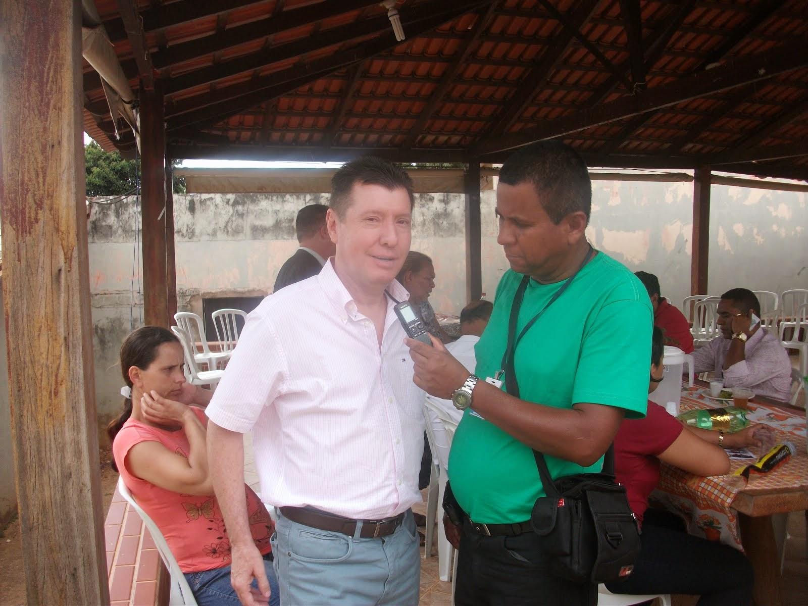 Deputado estadual José Nelto de 8 mandatos fala no papagaio do Catireiro mais uma vez .
