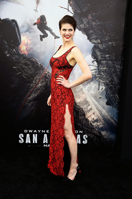 Model, Actress @ Alexandra Daddario - San Andreas Premiere in Hollywood