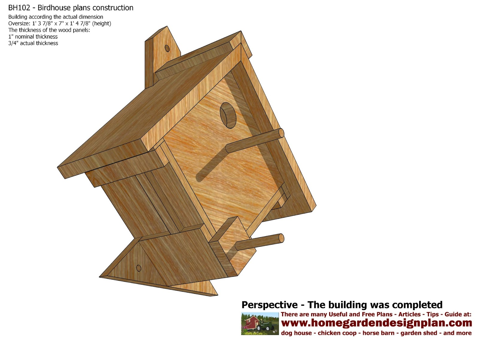 Mina bh102 bird house plans construction bird house for Song bird house plans
