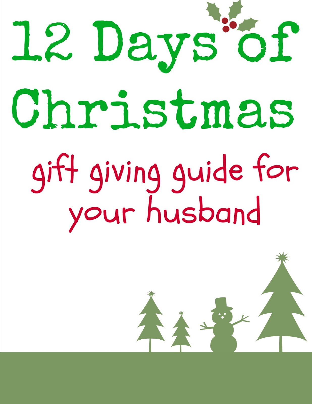 gifts 12 days of christmas
