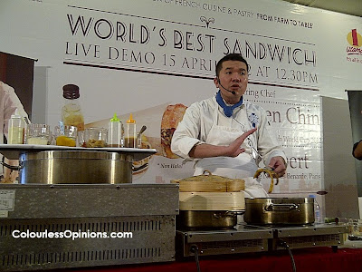 Dave's Deli Bistro One Utama Darren Chin 9th Delifrance Sandwich World Cup 2012  World's Best Sandwich Demonstration
