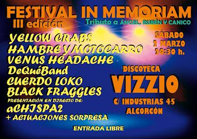 Festival Tributo IN MEMORIAM Tercera Edición -Alcorcón
