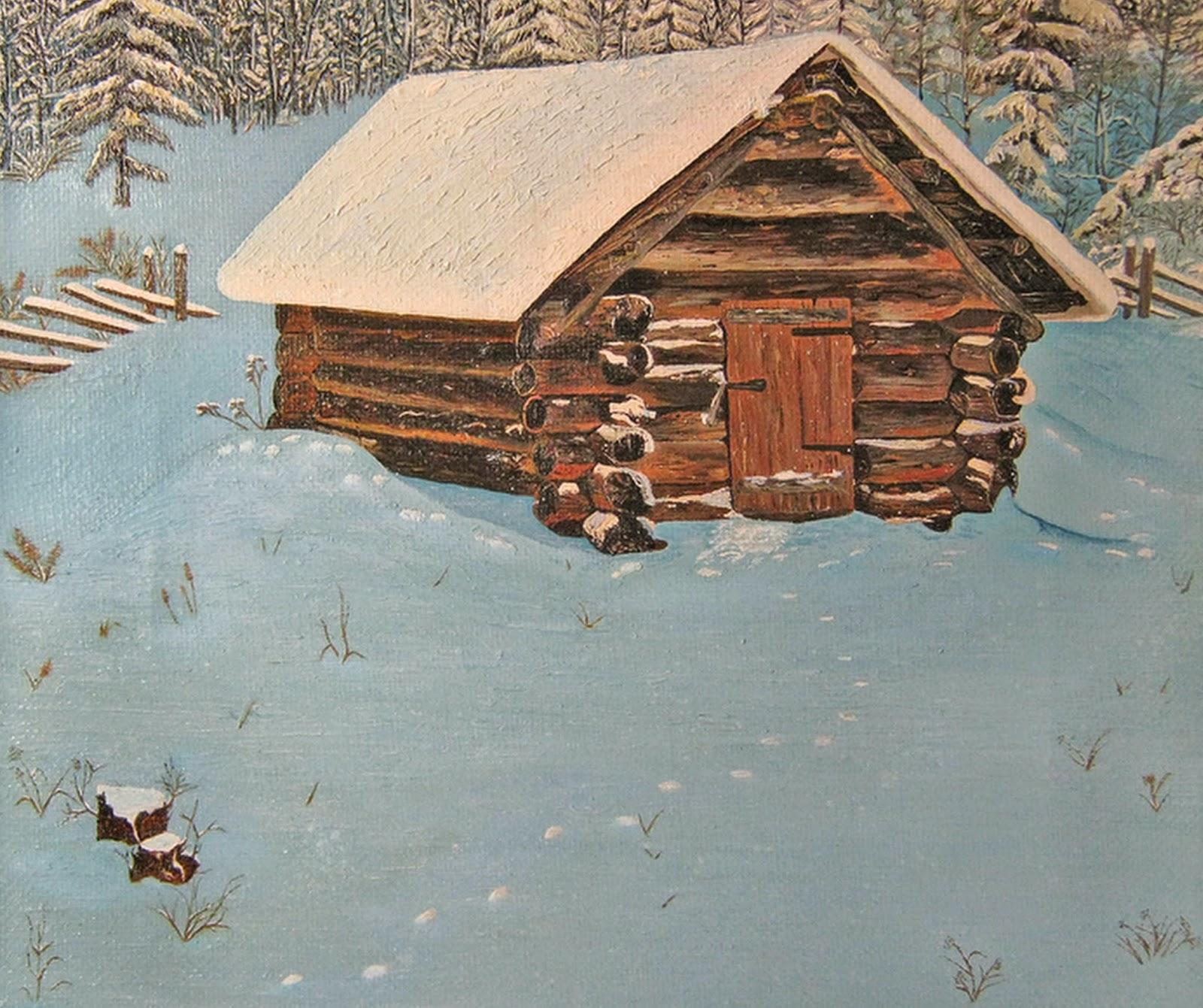 paisaje-natural-con-casa-de-madera