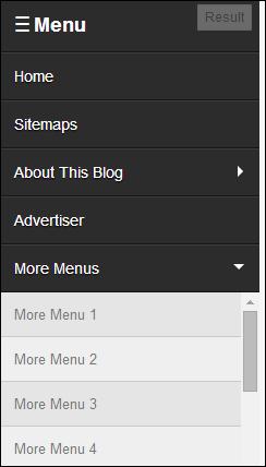 Tạo menu ẩn hiện trượt dọc tuyệt đẹp cho blogspot