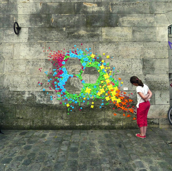 Origami Street Art by Mademoiselle Maurice