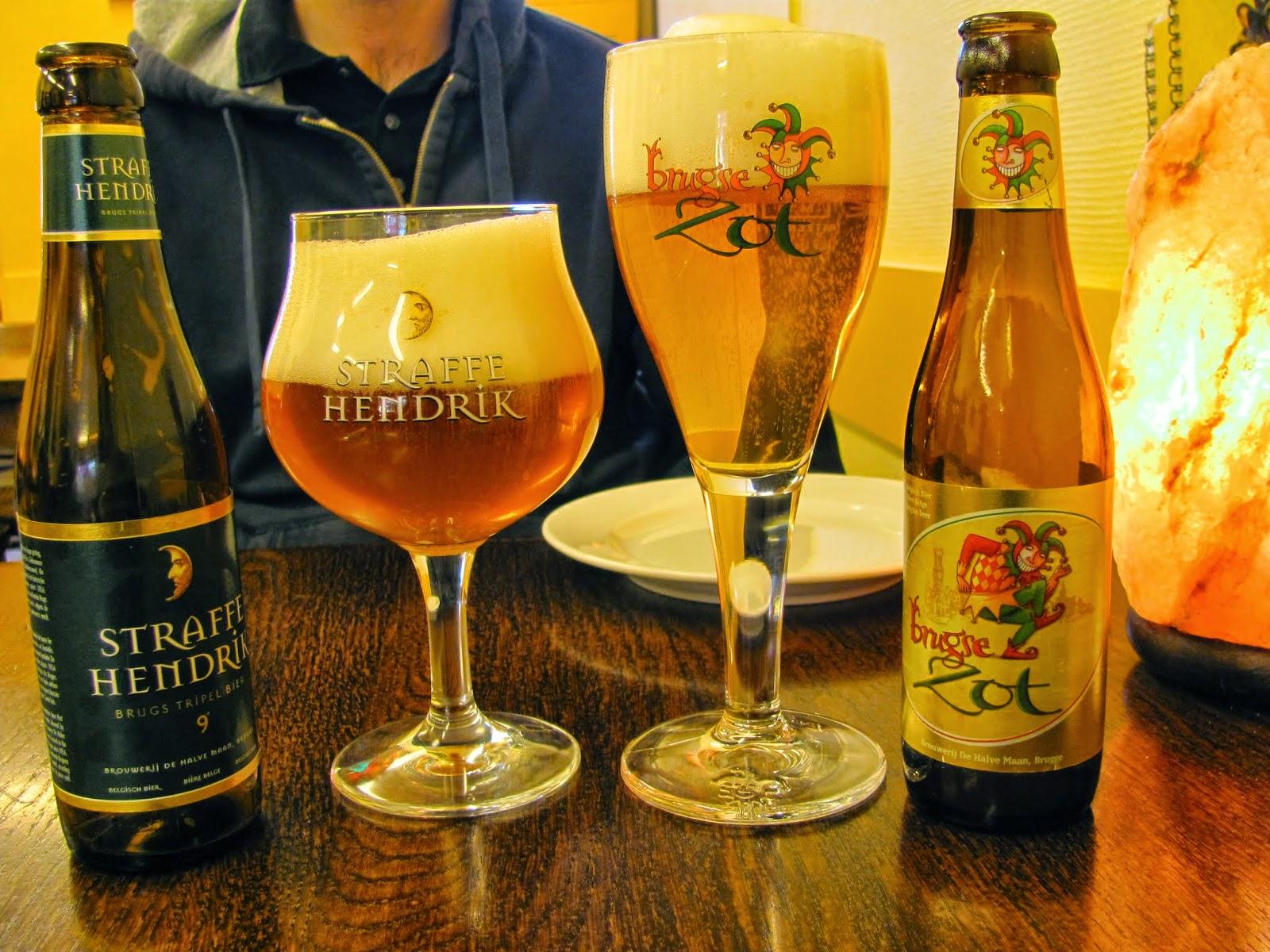 Straffe Hendrik and Brugse Zot Beer Bruges, Belgium