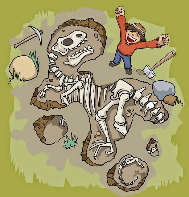 digging a dinosaur