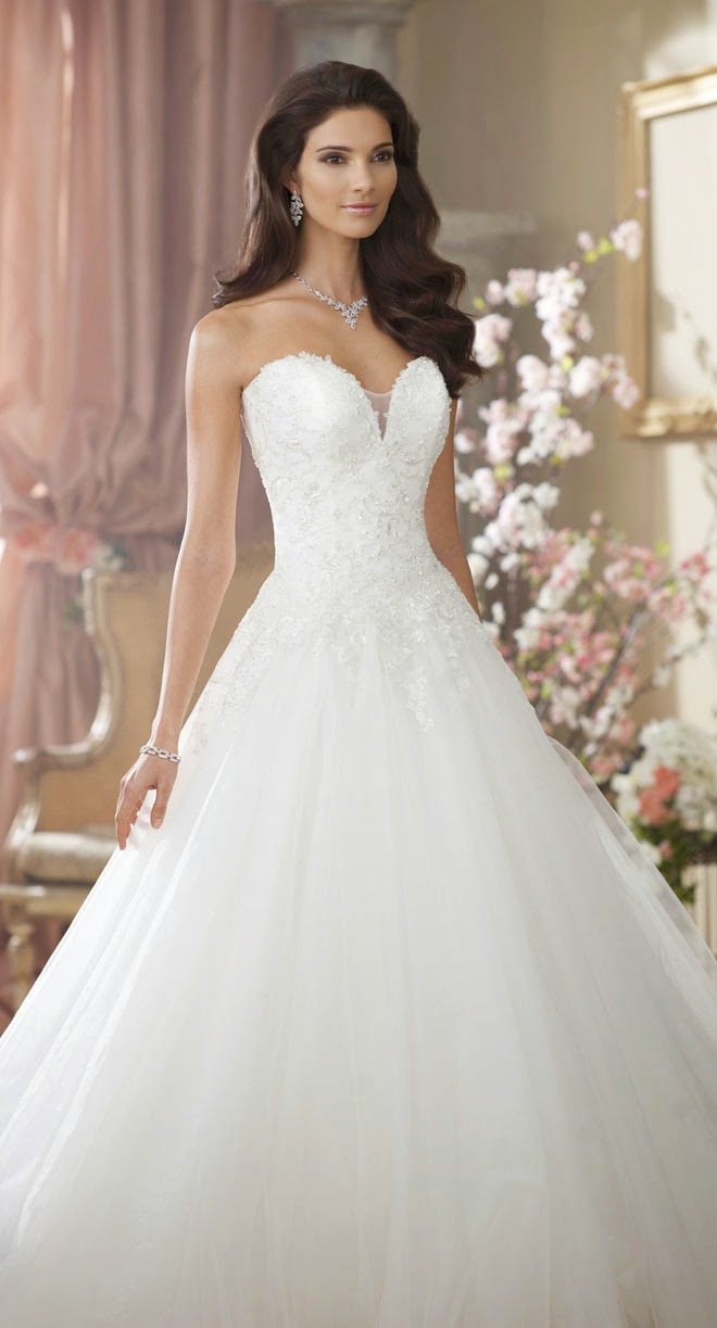 David tutera for mon cheri fall 2014 bridal collection for Wedding dress davids bridal
