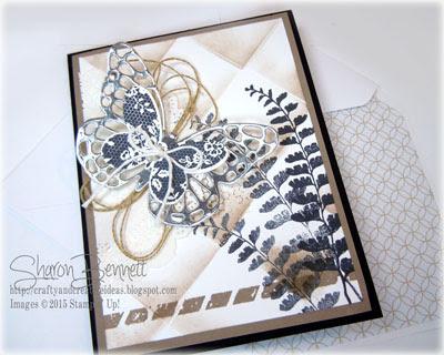 DSC#136 - Butterfly Basics -Faux Tile Technique Card