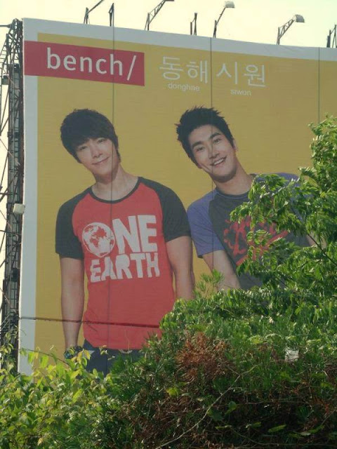 Siwon and Donghae Bench Billboard