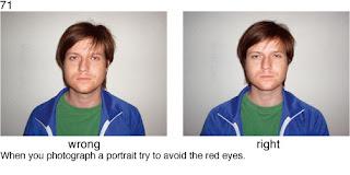 Совет 71. При съемке портрета избегайте возникновения эффекта красных глаз.