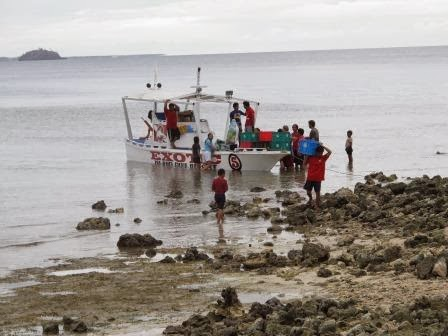 Aid arriving to Malapascua
