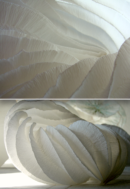 lampada di carta, origami