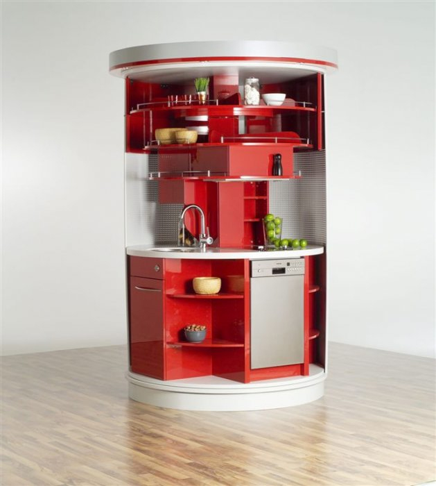 My Red Herring Narrow Kitchen Design