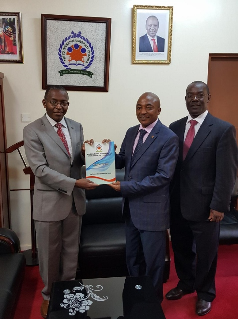 Richard Muteti Meeting the Vice Chancellor of the Co-operative University of Kenya