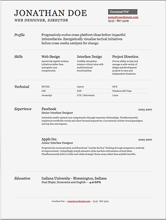 free tools to create professionally impressing and visually appealing resumes