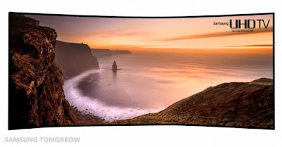 Samsung announced a curved 105-inch TV!