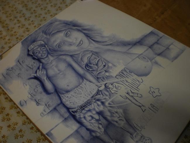 dibujo con boligrafo