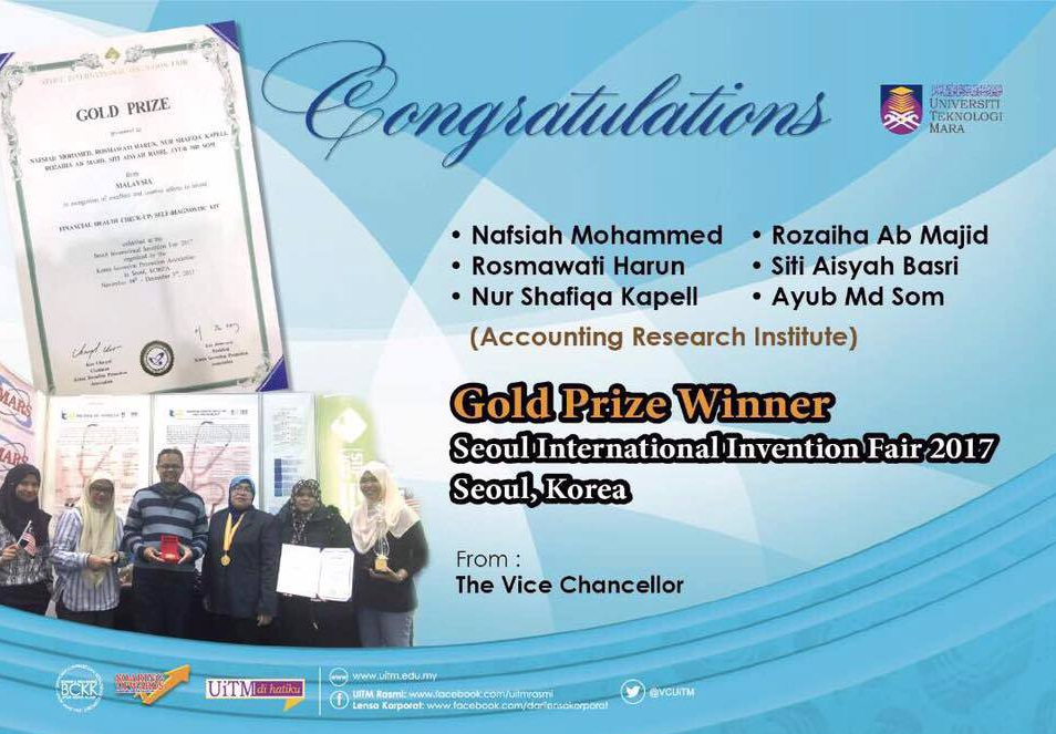 Gold Awards SIIF 2017 for Prof Dr Nafsiah