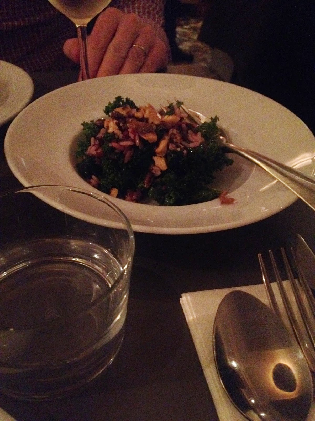 Wild rice, cranberry and kale salad at Café de Mars, Paris