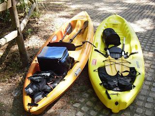 Pelican Apex 100 & Coleman Drifter kayaks