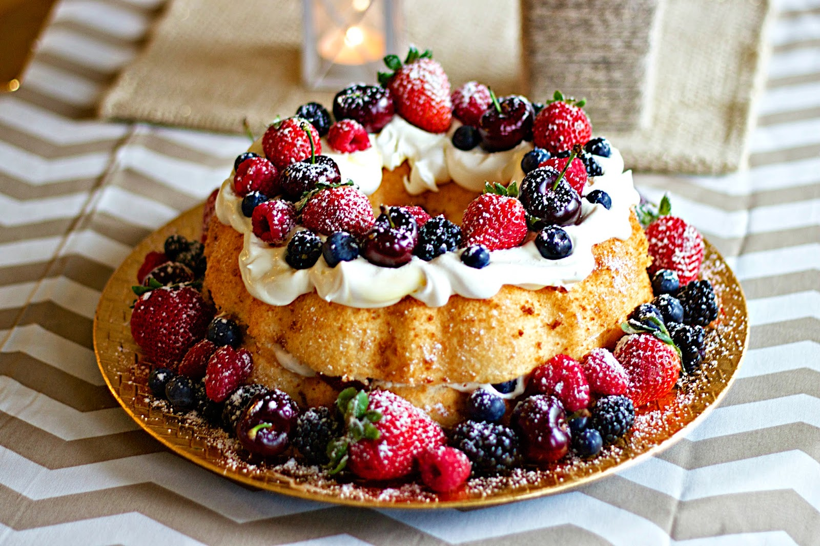 Enjoiable Desserts Etc Pretty Berry Birthday Angel Food Cake