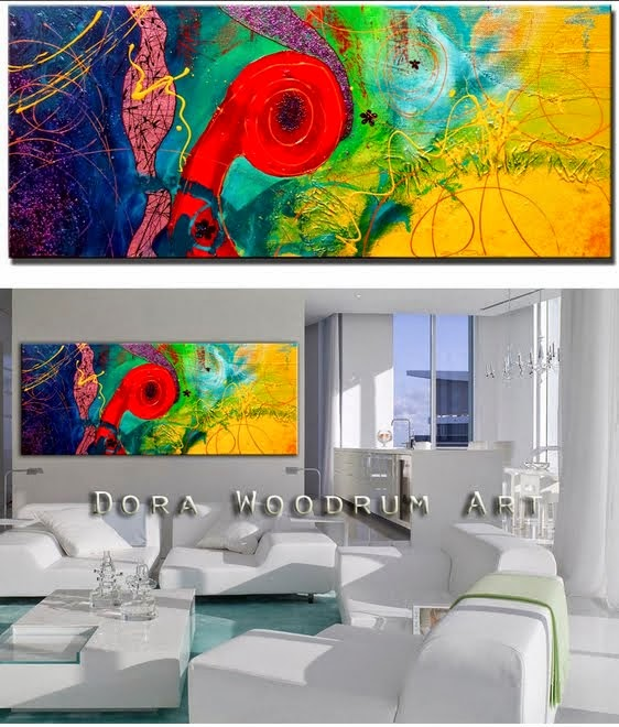 "Original Abstract Painting ""Positive Energy 2"" by Artist Dora Woodrum"